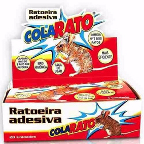 Ratoeira Adesiva Cola Visgo Pega Rato Barata Inseto 20 Unid