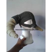 Gorro Vickingo Tejido A Mano Crochet