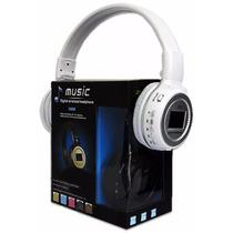 Headphone Bluetooth Mp3 Com Visor Aux Sd Usb Bateria N65
