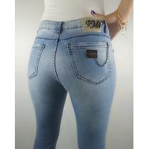 Calça Jeans Empório Rasgada Feminina Skinny Cós Medio Barata