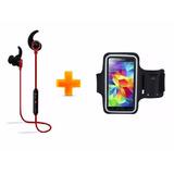 Combo Running Auricular Bluetooth + Brazalete Porta Celular
