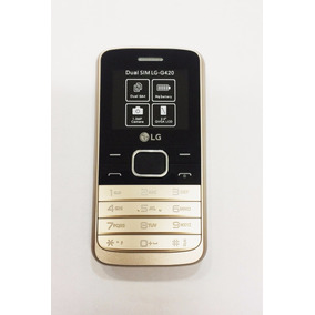 Celular Lg Idoso Dourado Teclado Tela Grandes Camera 2 Chip