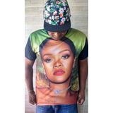 Camiseta Rihanna Rip Rop Pop Musa Unissex Entrega Imediata