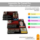 Carnet Pvc Full Color Impreso Solo Por Un Lado Somos Tienda!