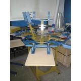 Maquina Estampadora Rotatoria Serigrafica 6x6 Nacional