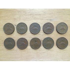 Lote 10 Monedas De Cobre De 20 Centavos 1971 Y 1973 Pirámide