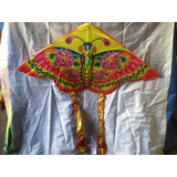 Cometa Mariposa Multicolor 135cm X 65cm Mayor Y Detal