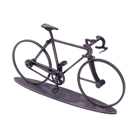 Bicicleta Decorativa Marrrom Modelo Corrida Madeira