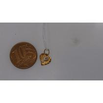 Pingente Coração Com Letra P Ouro 18k/750 Ref 47