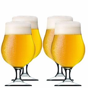 Taça Cerveja - Copo Cerveja Tulipa Bélgica 420ml Vidro 4 Uni