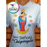 Franela Virgen Chinita Sublimada Con Pedreria Textil