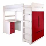 Camarotes C/cama Alta+escritorio+ Closet+cajonera +escalera,