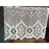 Cortina Visillo Bando Tejido Crochet Hilo Algodon 50x100