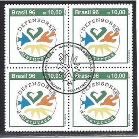 P01 1996 Defensores Da Natureza Quadra Cbc Rara! R$220