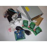 Kit Eletrônica Cnc Placa Usb+drive 3a+motor 15kgf+fonte 24v