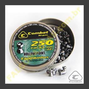 Chumbinho Combat Hollow Point 5,5mm - 250 Unidades Cod 1225