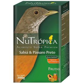 Ração Nutrópica Para Sabiá E Pássaro Preto - 300 G