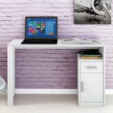 Escrivaninha 1 Porta E 1 Gaveta Luminus Branco Fosco