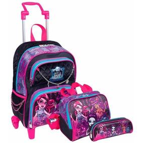 Kit Monster High Mochilete M + Lancheira + Estojo - Sestini