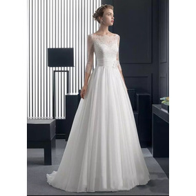 Vestido De Noiva Cor Pérola Estilo Princesa