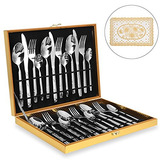 Amz Soaring Silverware Set, Stainless Steel Flatware Cutlery