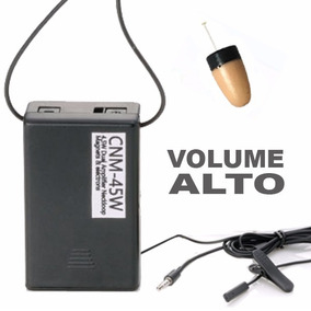 Fone Espião Micro Ponto Eletrônico Escuta Com Amplificador