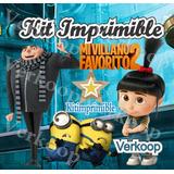 Kit Imprimible Mi Villano Favorito 2 + Candy Bar Fiesta