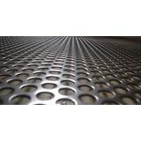 Lámina Perforada Acero Al Carbón 1x2mt Cal 20 Perf 3mm