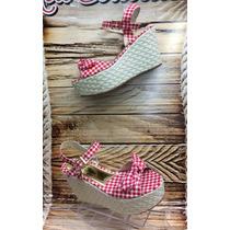 Sandalia Plataforma Bajitas Fucsia Mujer Fabricantes Calzado