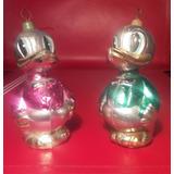 Adornos Antiguos Navidad Representando A Pato Donald Y Daisy