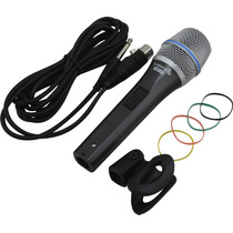 Microfone Dinâmico Profissional Lyco Como Shure + Cabo Nfe