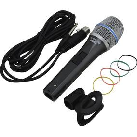 Microfone Profissional Lyco Com Fio Chave Liga/desliga Nfe