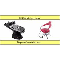Kit Cabeleireiro Lavatorio Italiano + Cadeira Futurama