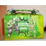 10 Cajas Bolsas Hulk Increible Cumple Personalizado