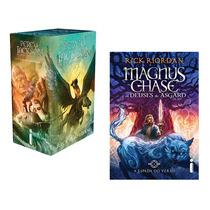 Kit Livros Box Percy Jackson + Espada Do Verão (6 Livros) !