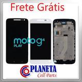 Tela Touchdisplay Frontal Moto G4 Play Xt1603 Br/pr F Grátis