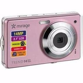 Cam. Digital Mirage Trend Rosa 14mp S/bateria E Acessórios