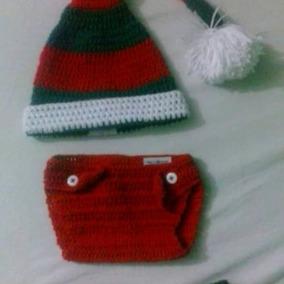 Gorro Zapatico Navidad Duende Disfraz Tejido Bebe Niño Niña. Bs. 2.600 228490be142