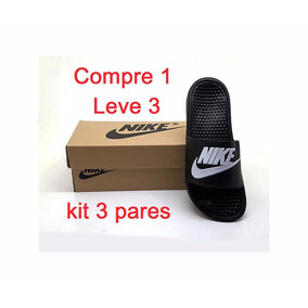 Kit 3 Pares Chinelo Feminino Nike Novo Na Caixa Frete Grátis
