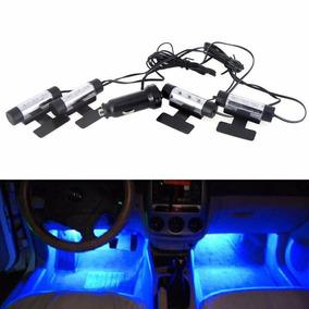 Led Neon Luz Azul + Adesivo Interno Acessorios Carro Tuning