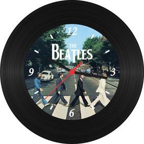 Relógio De Parede Beatles Disco De Vinil Rock Cantores