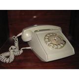 Antiguo Telefono De Disco Gris De Los 70s Vintage