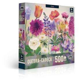 Quebra-cabeça 500 Peças - Flores