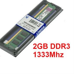 Memória 2gb Ddr3 1333mhz Pc3-10600 Kingston - Desktop Pc