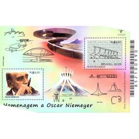 Bloco - Homenagem A Oscar Niemeyer 2014 (2 Selos)