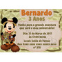 Arte Digital Convite Mickey Safari Vários Modelos