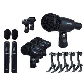 Set 7 Micrófonos Para Batería Con Estuche Cuellos Y Clamps
