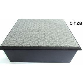 Caixa Box Organizadora Em Mdf Porta Relogio C/almofadas