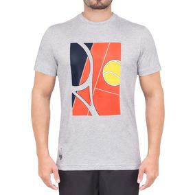 8bfce6e2be0d7 Camiseta Lacoste Fancy Cinza - Edição Roland Garros