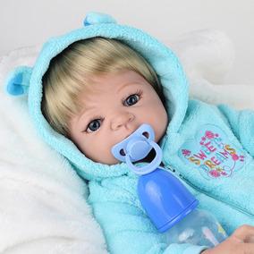 Bebe Reborn Todo De Silicone - Pode Dar Banho - Frete Grátis